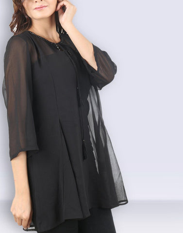 Black Solid Gorgeous Tunic