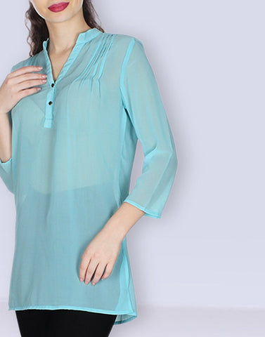 Sky Blue Solid Tunic
