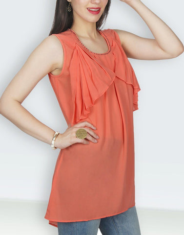 Orange Solid Tunic