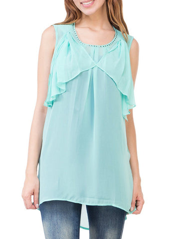 Aqua Green Solid Tunic