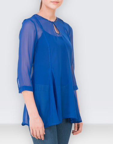 Fab Blue Solid Top