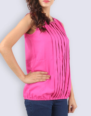 Pink Solid Simply In Mind Top