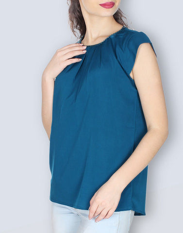 Rama Green Solid Stunning Top