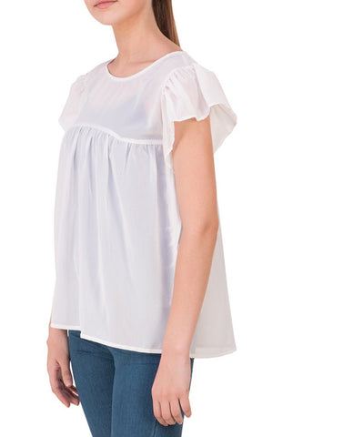 Cream Solid Regular Top