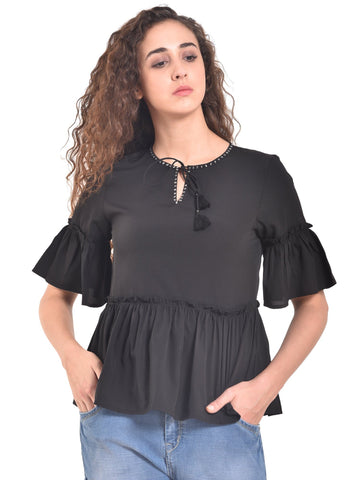 UVR Black Solid Top