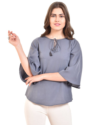 UVR Grey Solid Top
