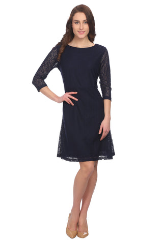 A-line Lace Abstract Dress