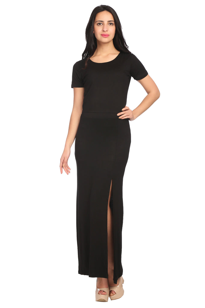 Black Slim Fit Dress