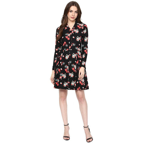Multicolour Floral Print Dress