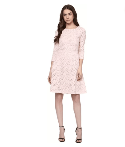 Lace A-line Slim Fit Dress