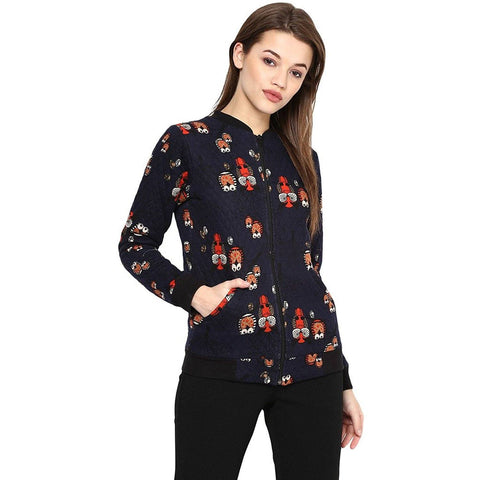 Multi color Woolen Printed Jacket