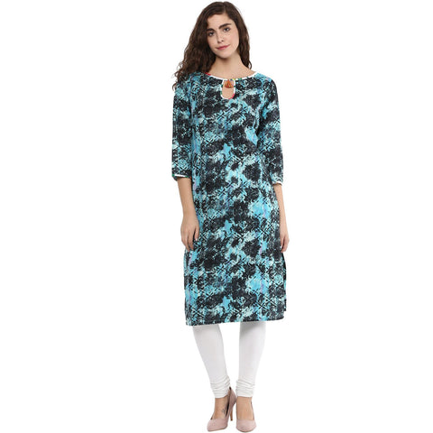 Multi Color Casual Printed Kurta
