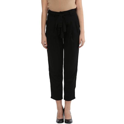 High Waisted Trouser Solid Pants