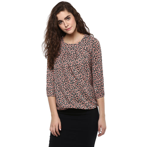 Multi color Novelty Printed Top