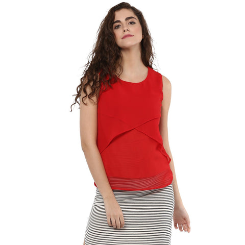 Slim Fit Flare Solid Top