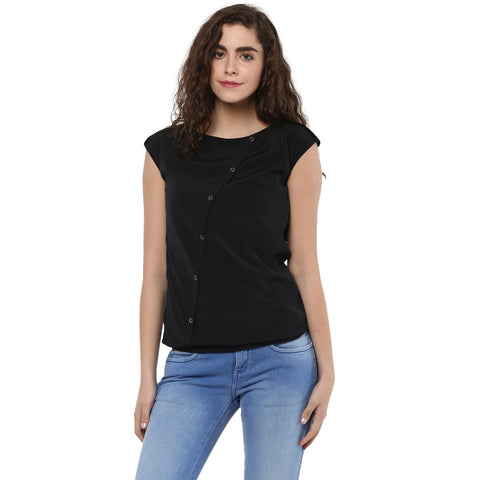 Slim Fit Casual Solid Top