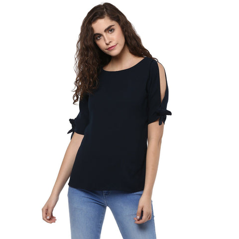 Cold Shoulder Plain Top