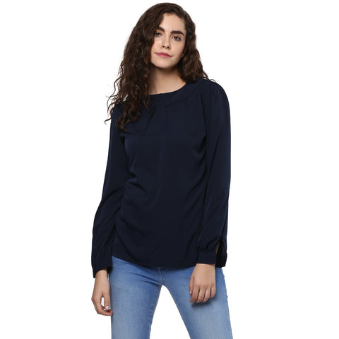 Formal Full Sleeve Solid Top