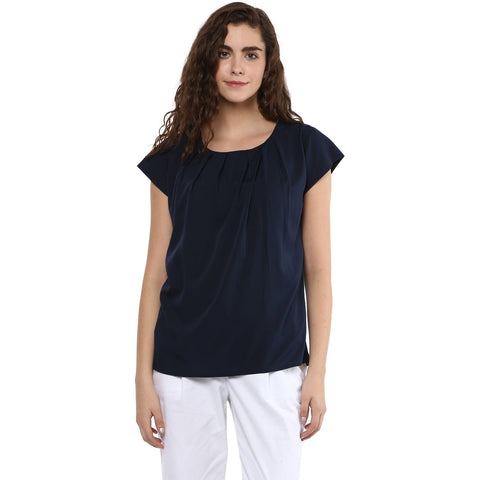 Crepe Cap Sleeve Plain Top