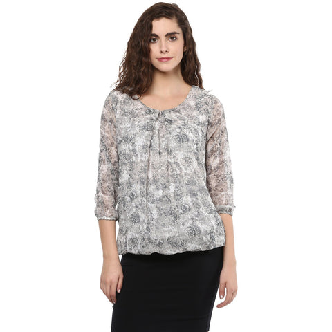 Georgette Balloon Printed Top