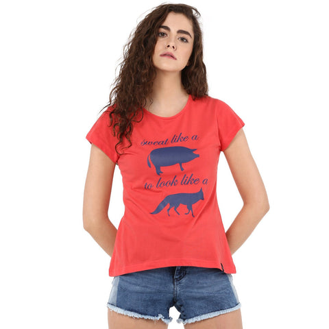 Casual Printed Animal T-shirt