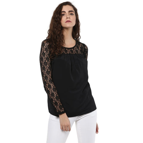 Formal Lace Solid Top