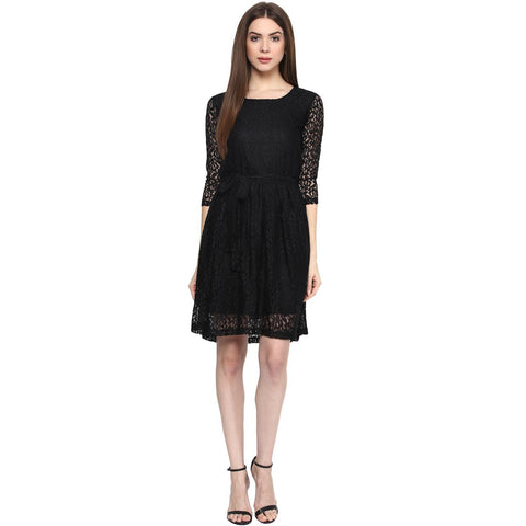 Net Slim Fit Dress