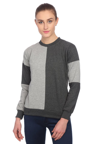 Two Color Solid Sweatshirt