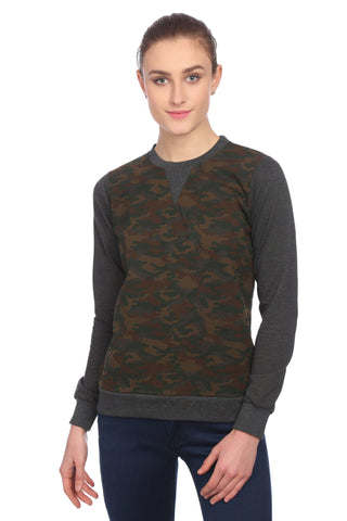 Multi color Woolen Printed Sweatshirt