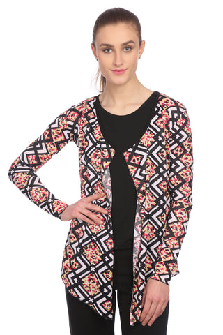 Multi color Printed Cotton Shrug