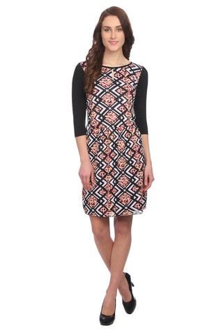 Multi color Slim Fit Printed Dress