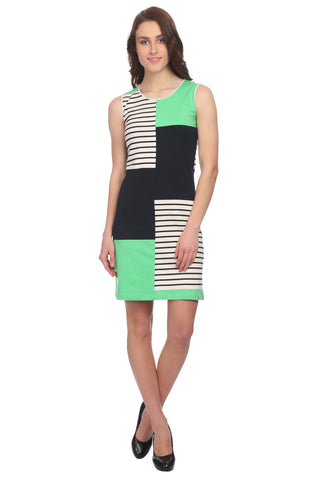 Slim Fit A-line Self Dress