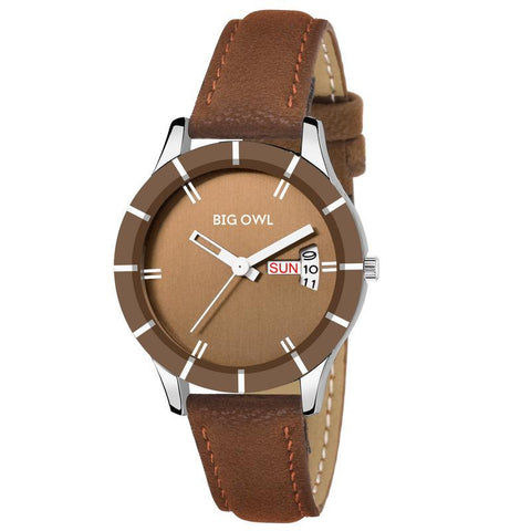Classy Leather Calender Dial Watch