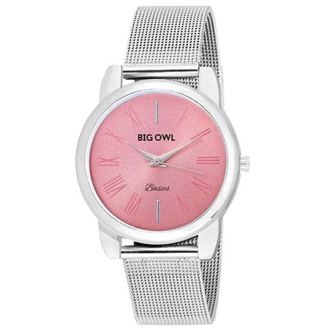 Pink Dial Wrist Chained Watch
