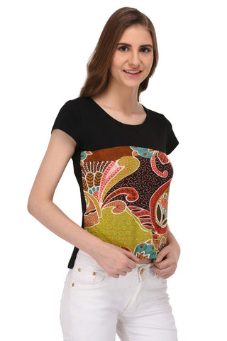 Multi Colored Abstract Print Top for Women