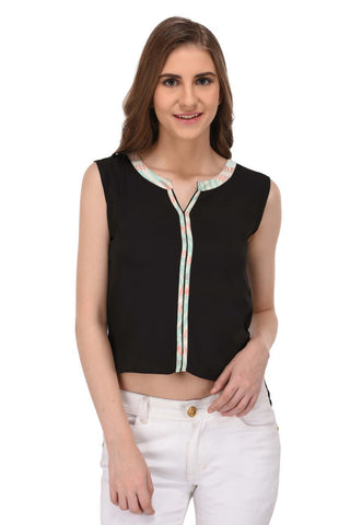 Black High Low Hem Top for Women