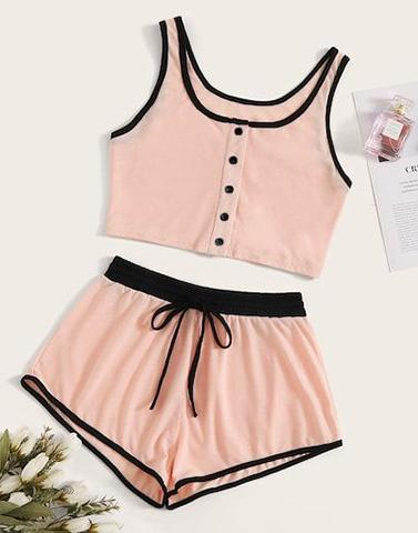 Peach Pink Love Nightwear