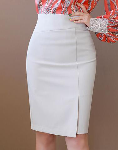Officewear White Bodyhug Skirt