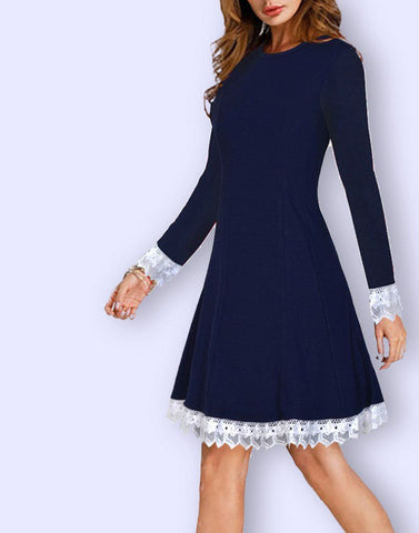 Imported Knit Blue Dress