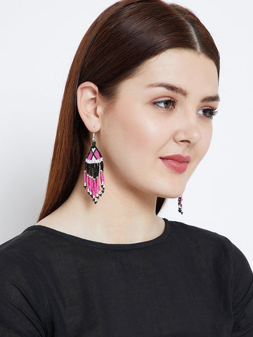 Multicolored Seed Beads Earrings