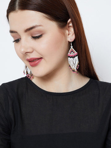 Triangular Pattern Handmade Earrings