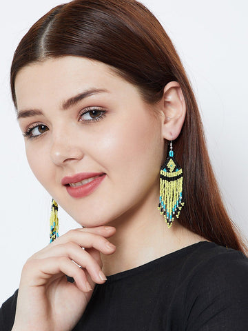 Triangular Multicolored Earrings