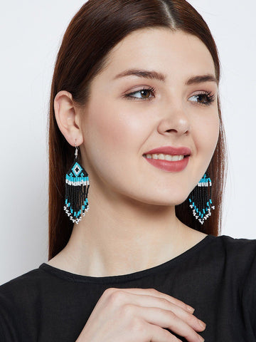 Triangular Pattern Handmade Earring