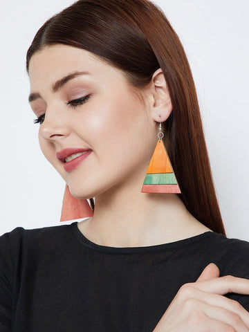 Triangular Designer Handmade Earrings