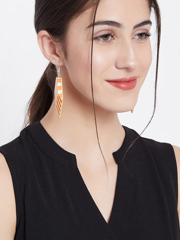 Dual colored Striped Earrings