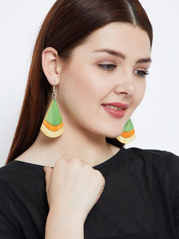 Wooden Drop Handmade Earrings