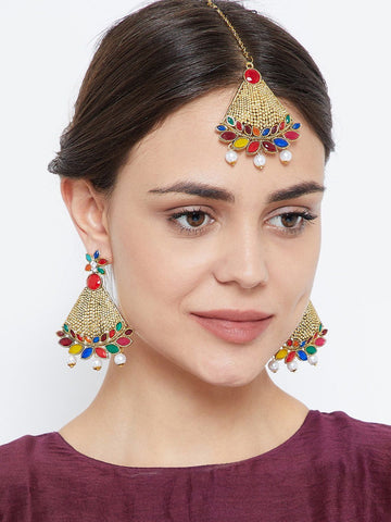 Bell Shaped Multicolored Jewellery Set