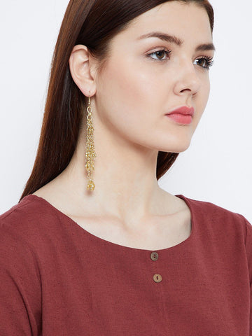 Tangled Golden Chains Earrings