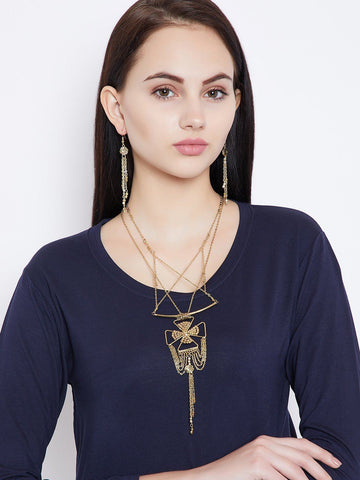 Delicate Chains Fashion Necklace Set With Earrings