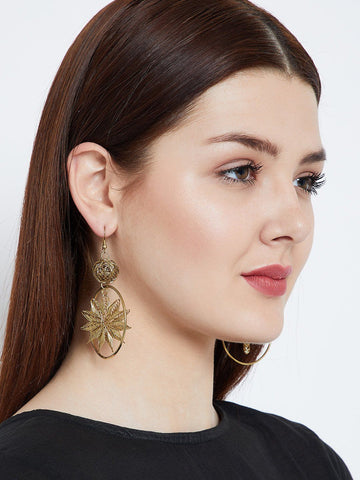 Star Gold Western Earrings